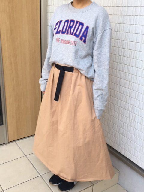 koe フロントベルトスカート
