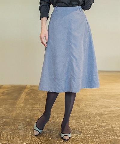 エコスエードフレアースカート