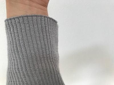 ニットの袖